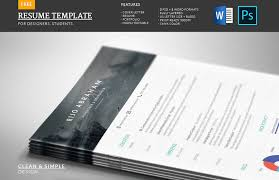 Resume Templates Word Free Modern 65 Eye Catching Cv Templates For Ms Word Free To Download