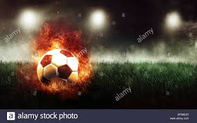 4 Pics 1 Word Lights Soccer Ball With Blue Flame Soccer Football Background On Fire Stock Photos Soccer