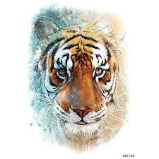 1 Kus Akvarel Kreslení Vodotěsné Tetování Simulace Tygr Vzor Dočasné Tatoo Nálepka Pro Tělo Umění At Vova