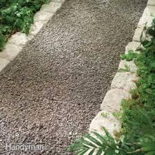 planning a backyard path gravel paths