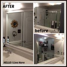 bathroom crown molding. Framing A Bathroom Mirror With Crown Molding