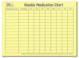Daily Pill Chart Remembering To Take Your Medications Properly What You