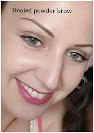 leeds permanent makeup permanent eyebrows healed powder brow
