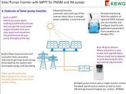 kewo solar pump inverter system introduction including the solar solar pump inverter technical specification good hardware design