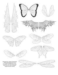 Printable Fairy Wings Template To Download Click On The Picture To