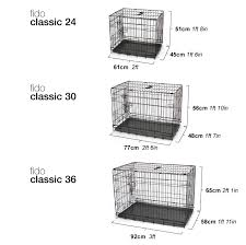 Dog Crate Size Chart Fido Classic Easy Folding Twin Door Metal Dog Crate Dog