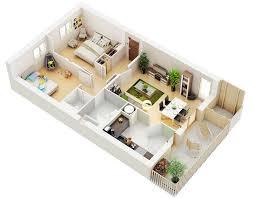 Small Apartment Floor Plans D - Small apartment floor plans 3d