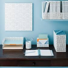 office desk accessories ideas. Brocade Desk Organizers Via The Container Store Office Accessories Ideas