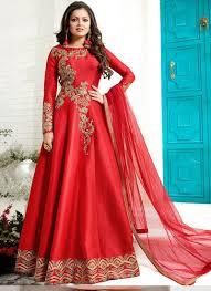 Dress Design Red Designer Embroidered Fantom Salwar Kameez Dress Design