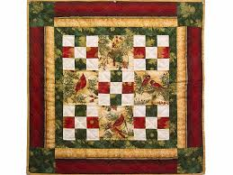 Nine Patch Quilt -- magnificent made with care Amish Quilts from ... & Christmas Cardinals Nine Patch Wall Hanging Photo 1 ... Adamdwight.com