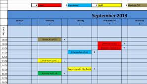 Scheduler Template Excel Oyle Kalakaari Co
