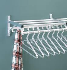 Coat Rack Bar Aluminum WallMounted Coat Rack with Hanger Bar Hook Rail and 18