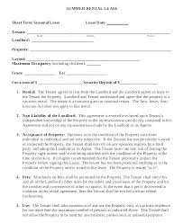 Basic Lease Agreement Residential Lease Blank Apartment Rental Lease Agreement