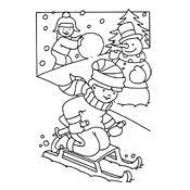 Kleurplaat Winter Vol Sneeuwpret Seizoen 3218