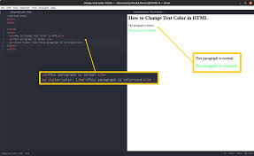 How To Change Text Color In Html