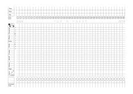 Fertility Awareness Printable Paper Chart Pre Filled