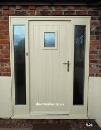 cottage door with sidelights