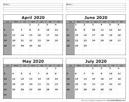 June July 2020 Calendar April May June July 2020 Calendar To Print All 12 Month