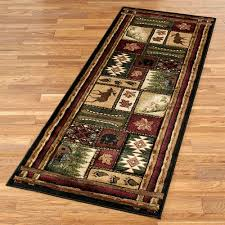 cabin chalet rug runner multi warm 27 x 74