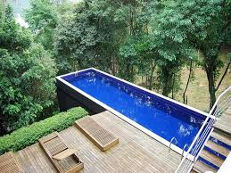 Deck swimming pools, above ground lap pools