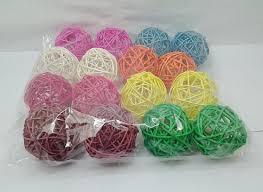 Decorative Balls For Bowls Australia 100X Rattan Balls Florist Wedding Decoration 100cm Mixed [weo100 22