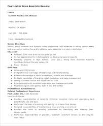 Stunning Foot Locker Sales Associate Resume 97 About Remodel Online Resume  Builder With Foot Locker Sales