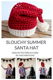 Crochet Santa Hat Pattern New Design