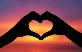 Wallpaper the sky, love, heart, Love ...