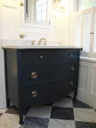 Refinish Bathroom Vanity Top Avenue Centrale Vanity Is A Repurposed Antique Serpentine Dresser