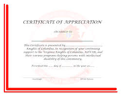 Army Certificate Of Appreciation Sample Letter For Work Permit