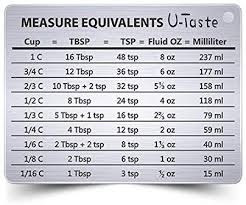 Fluid Measurement Conversion Chart U Taste Professional Measurement Conversion Chart
