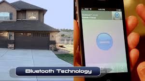 open garage door with iphoneSecuRemote Bluetooth Garage Door Opener  YouTube
