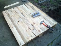 Patio From Pallets Timber Pallet Patio Diy