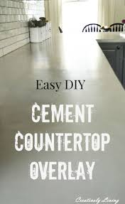 Concrete Countertop Over Laminate Best 25 Concrete Overlay Countertops Ideas On Pinterest Stained