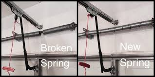 replace broken garage door spring