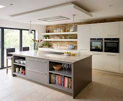 featuring sleek lines and concealed hinges for a contemporary aesthetic the linear kitchen by harvey jones comes primed ready for painting in any colour