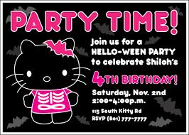 Hello Kitty Invitation Custom Printable Hello Ween Kitty Invitation