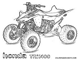 four wheeler coloring pages. Fine Wheeler Unparalleled Four Wheeler Coloring Pages Successful Honda Quad Bike  Colouring To R