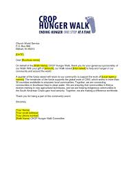 What Is A Thank You Letter Business Sponsorship Thank You Letter Crop Hunger Walk Resources