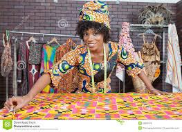 Black Clothing Designers Portrait Of An African American Female Fashion Designer