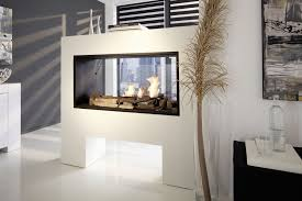 two sided electric fireplace awesome white living room contemporary design with double sided model
