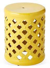 madison garden stool mustard partly