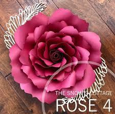 Paper Flower Petal Template Instant Download Rose 4 Svg Large Paper Flower Rose Petal Etsy