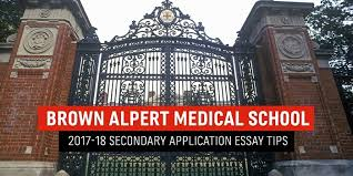 brown alpert medical school secondary application essay tips