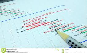Work Planning Stock Image Image Of Planner Chart Font