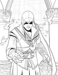 Assassins Creed Coloring Pages Color Bros