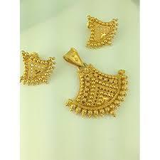 women s gold pendant set rs 3490 gram