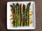 asparagus with sesame seeds