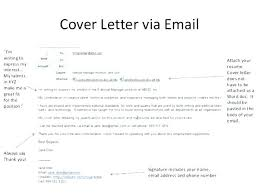 Email Resumes Writing A Good Cover Letter Sample Letters For Resumes How To Write