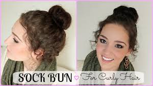 Sock Bun Hair Style 46 bun hairstyles for curly hair hairstylo 5360 by wearticles.com